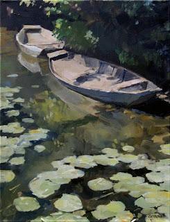 Deux barques a la roussille, GOINEAU