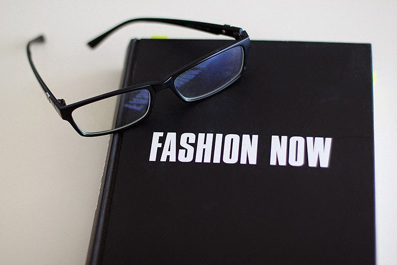 Fashion Now book and glasses
