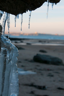 Frozen beaches in Cornwall