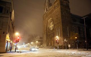 Wonderful Winter Night HD Wallpaper