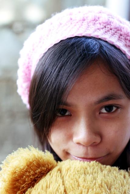Aicha Pink Hat Crochet
