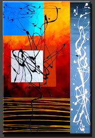 "ABSTRACT PAINTING ""WINDOW OF OPPORTUNITY""  DORA WOODRUM"