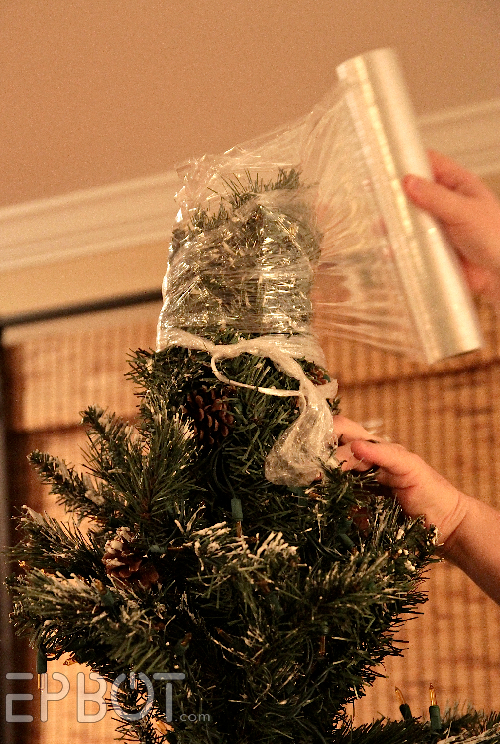 Epbot how to shrink wrap your christmas tree for fun