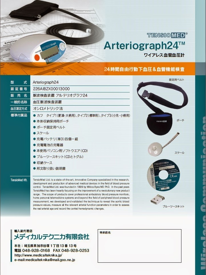 アルテリオグラフ24 Arterila Stiffness