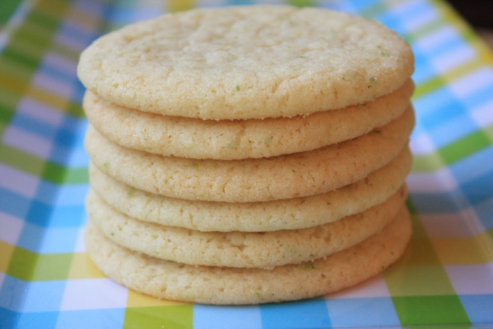 Giant Lemon - Lime Sugar Cookies ( adapted from One Perfect Bite )