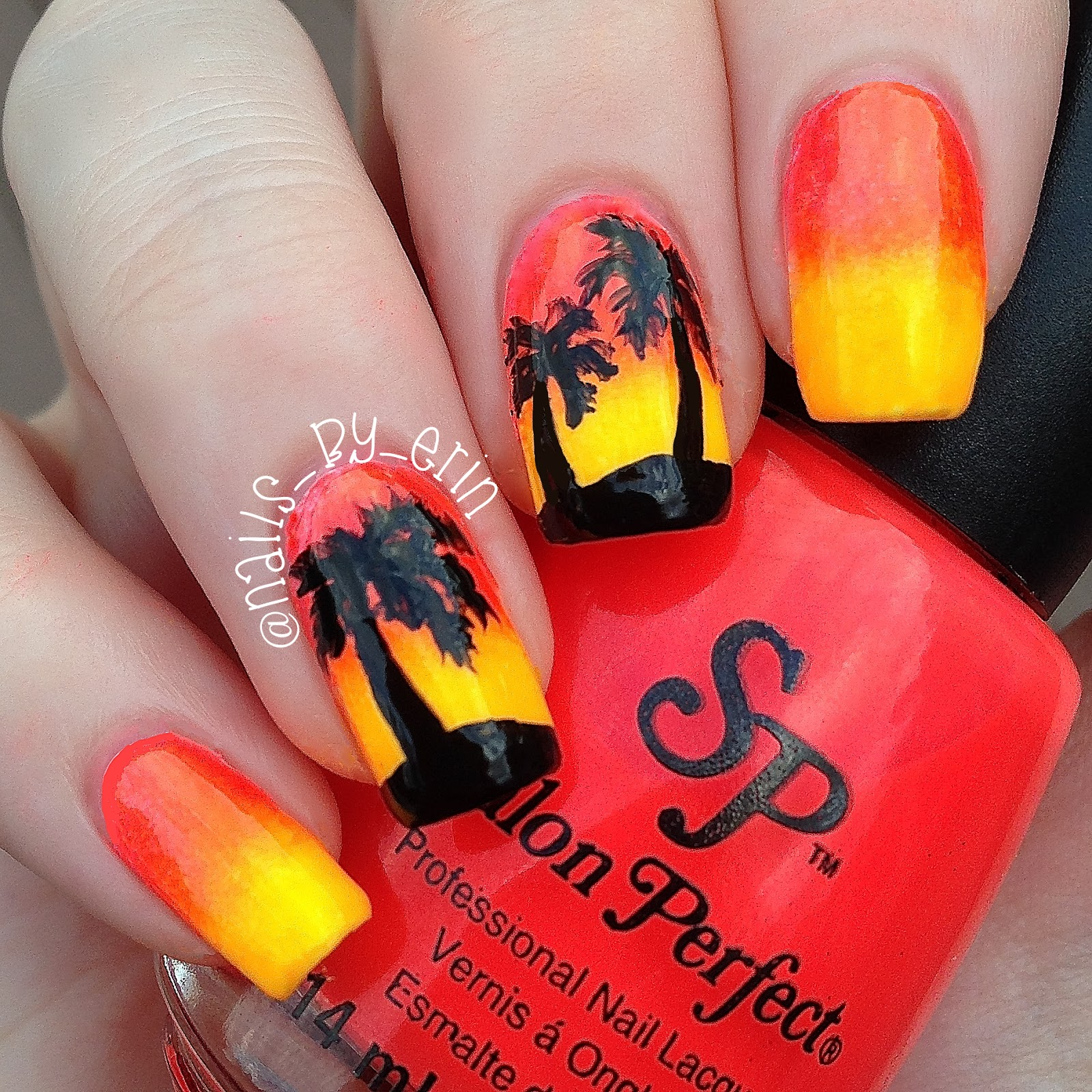 Knew That They Would Make A Perfect Summer Y Gradient I Topped The Finished With Some Palm Trees Painted Acrylic Paint