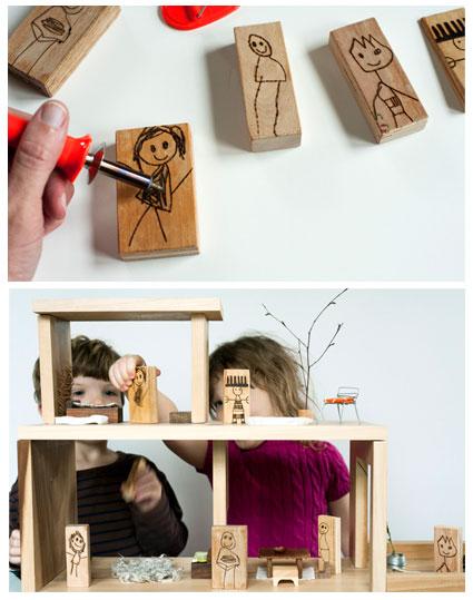 stockade 39 s blog feature diy craft wood burned doll blocks