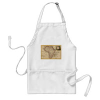 African Map Apron