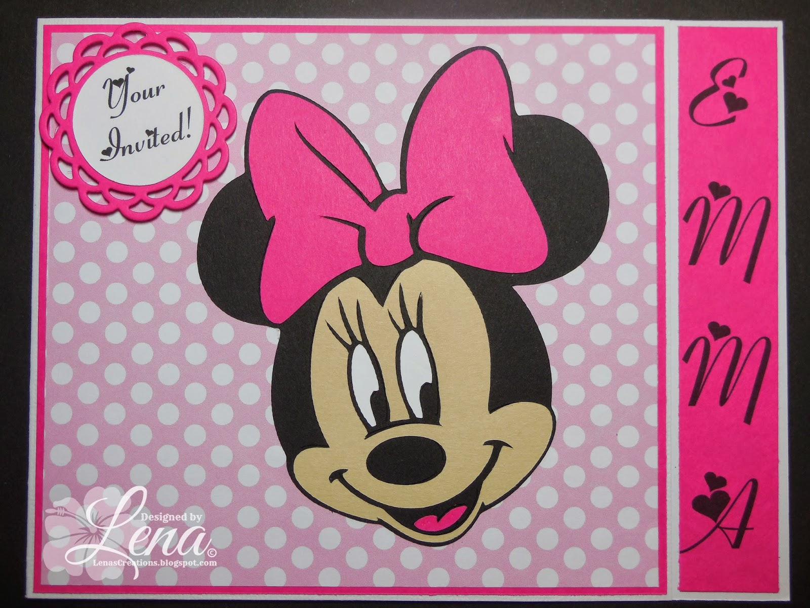 Lena s Creations Minnie Mouse Baby Shower Invitations