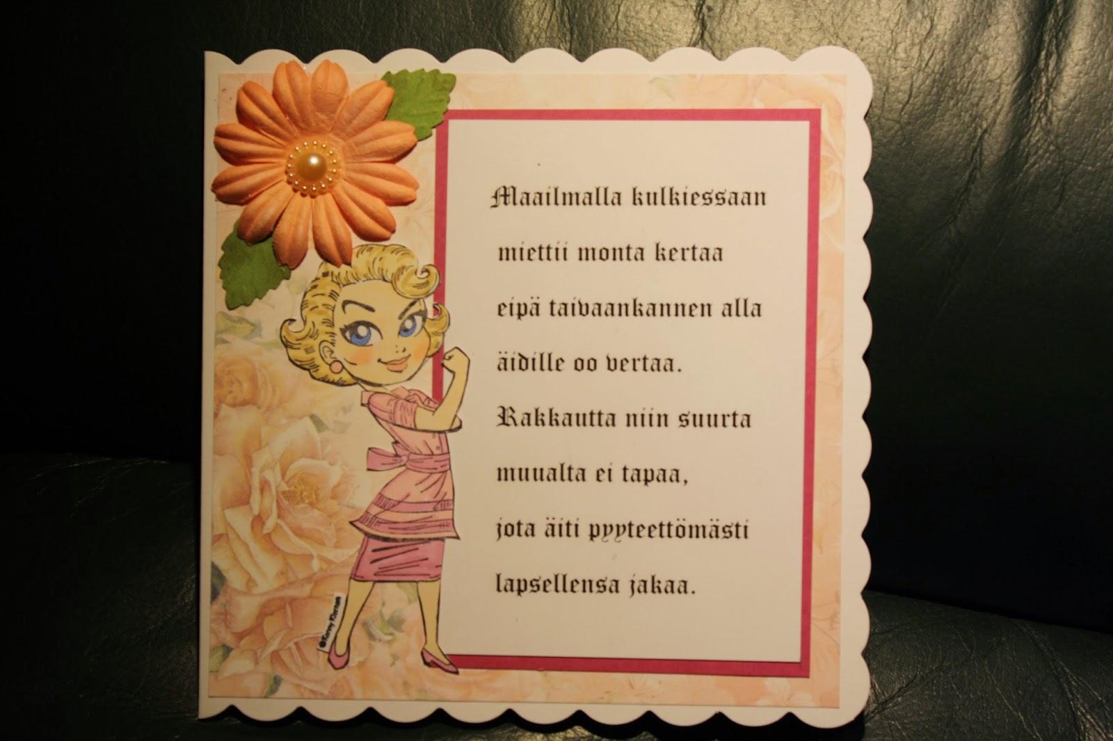synttäriruno nuorelle naiselle Rovaniemi