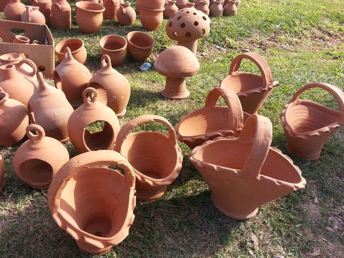 Vasijas decoradas de barro para jardin decoractual for Decoracion de jardin con ollas de barro