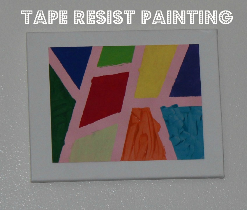 Tape resist art the imagination tree for Painting projects
