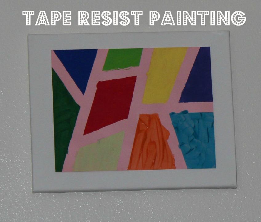 Tape Resist Painting On Canvas