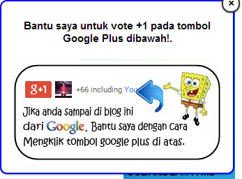 Cara Membuat Widget Vote +1 Google Plus Melayang