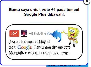 Cara Membuat Widget Vote +1 Google Plus Melayang