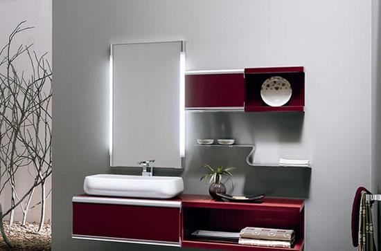 Dise os de cuartos de ba o modernos con muchos colores for Espejos modernos para habitaciones