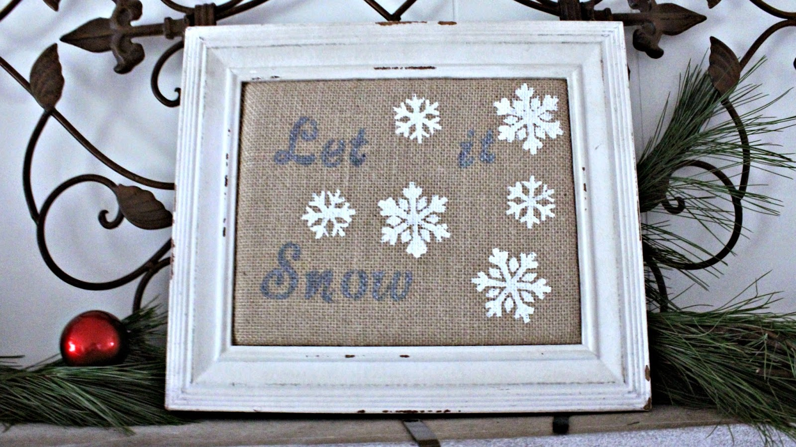 snow winter decor crafts