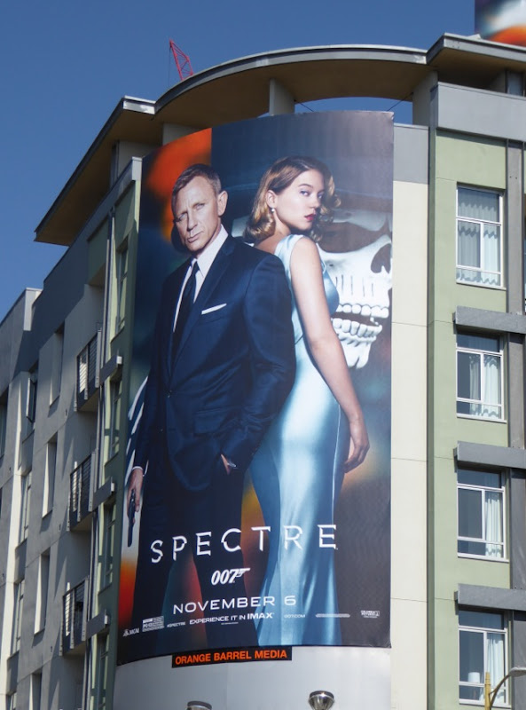 James Bond Spectre movie billboard