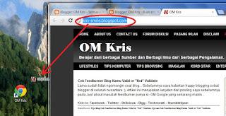 OM Kris - 3 Cara buat shortcut link web dengan mudah & Cepat3
