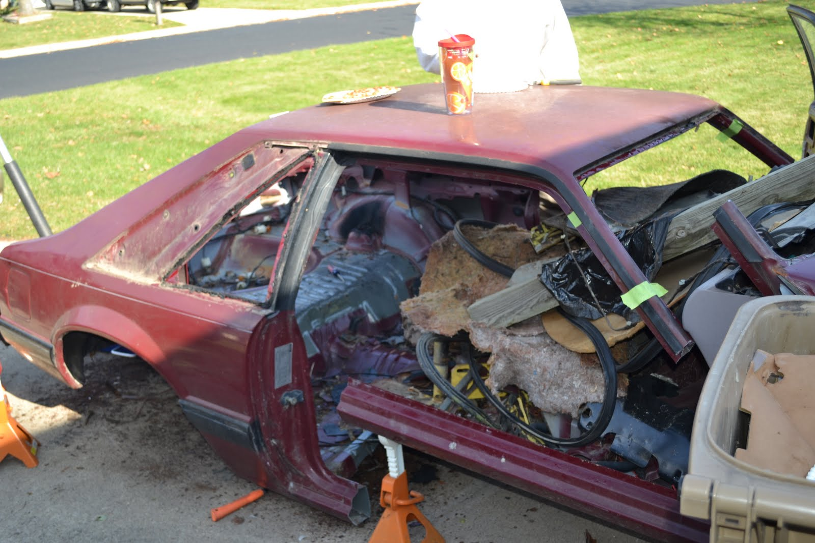 Fox Body Mustang Restoration: Mustang Parts Car Demolition Continued