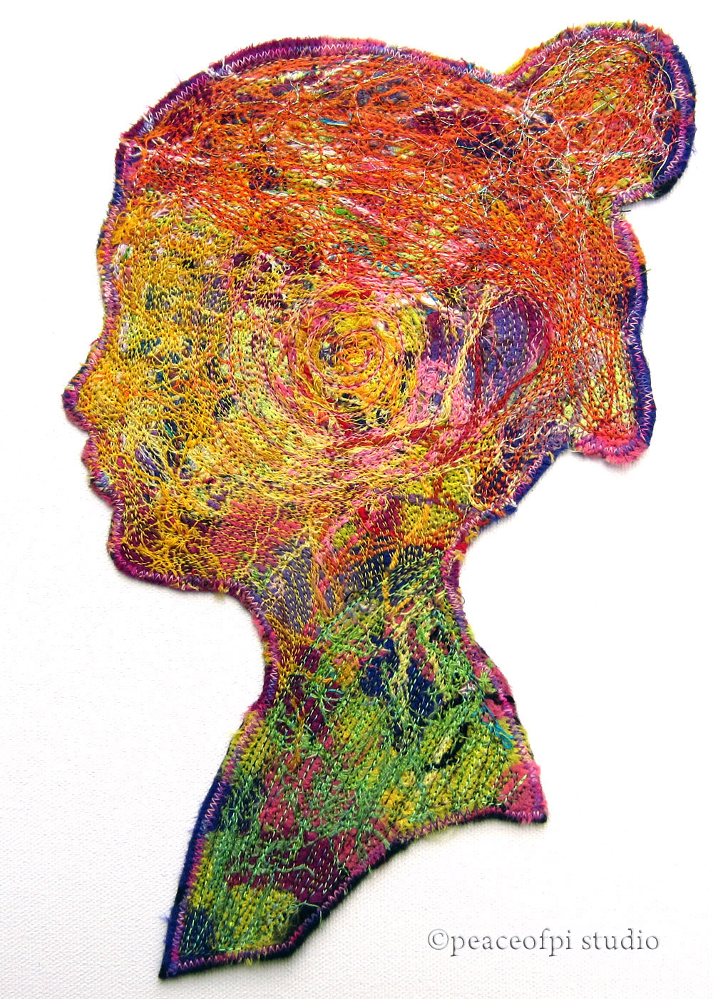 Thread Art Part - 47: Profiles I: Stitched Silhouette Thread Art