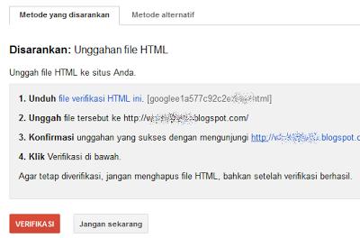 cara mendaftarkan sitemap blog