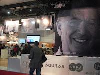 Paneles destacan la presencia de Mario Vargas Llosa en la Feria del Libro de Buenos Aires, Argentina. Foto: ANDINA/ Miguel Angel Vallejo