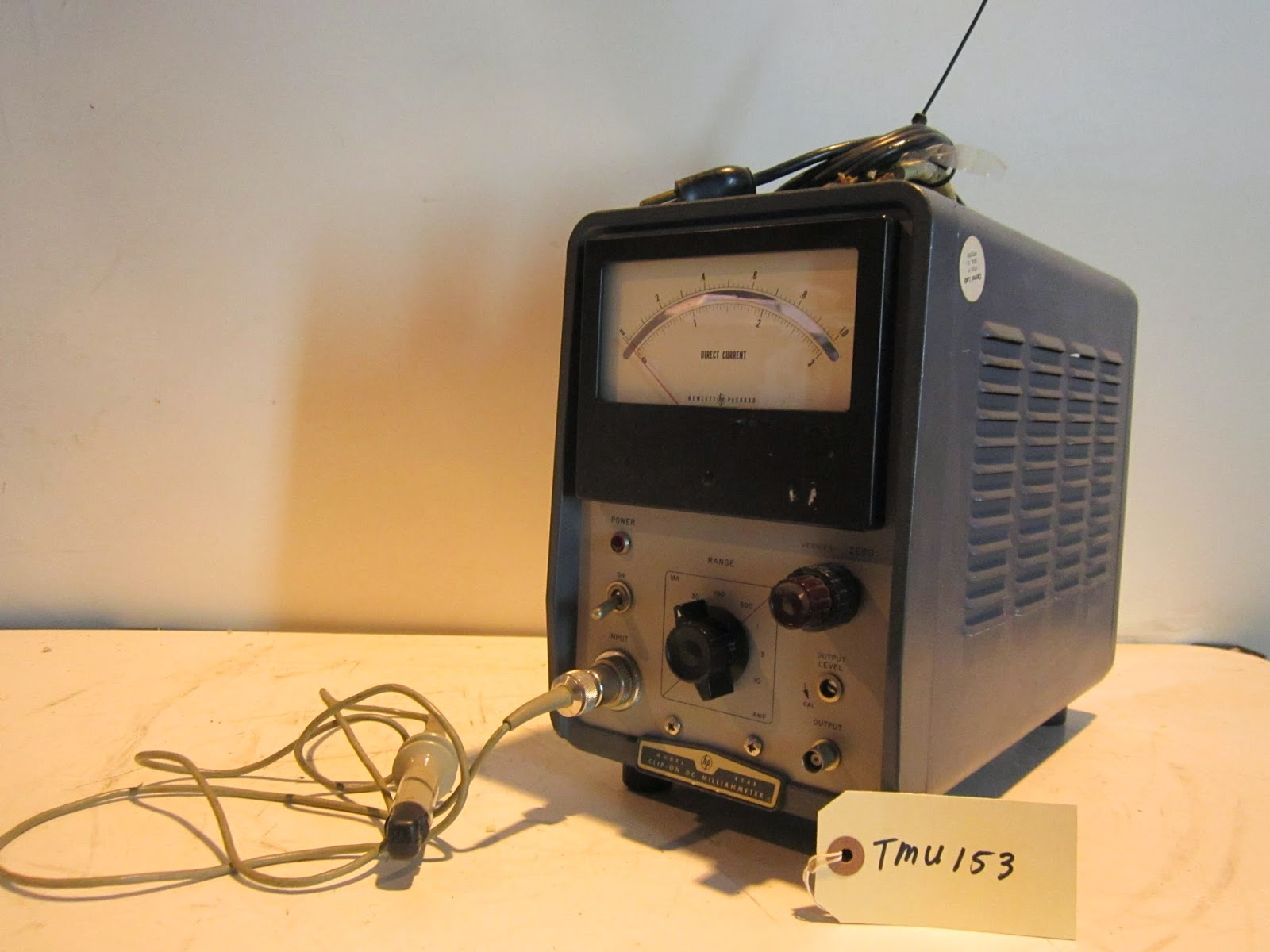 Hp Current Probe : Panatron inc hp b a clip on dc milliammeter
