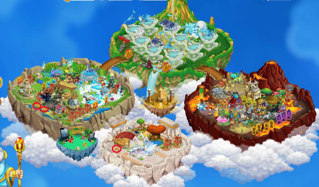 imagen de los ankh de la isla egipcia de dragon city