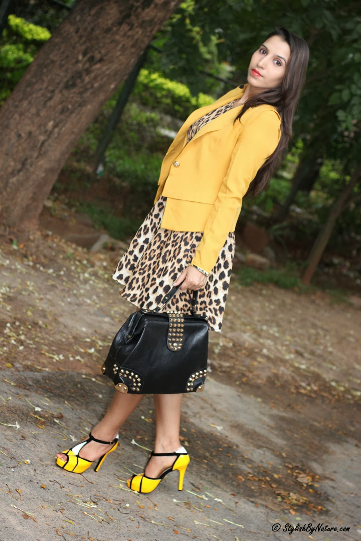 What to Wear with Animal Print Dress