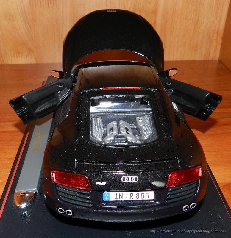 Diecast 1:18 Audi R8 back