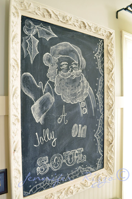 Santa claus chalk board art