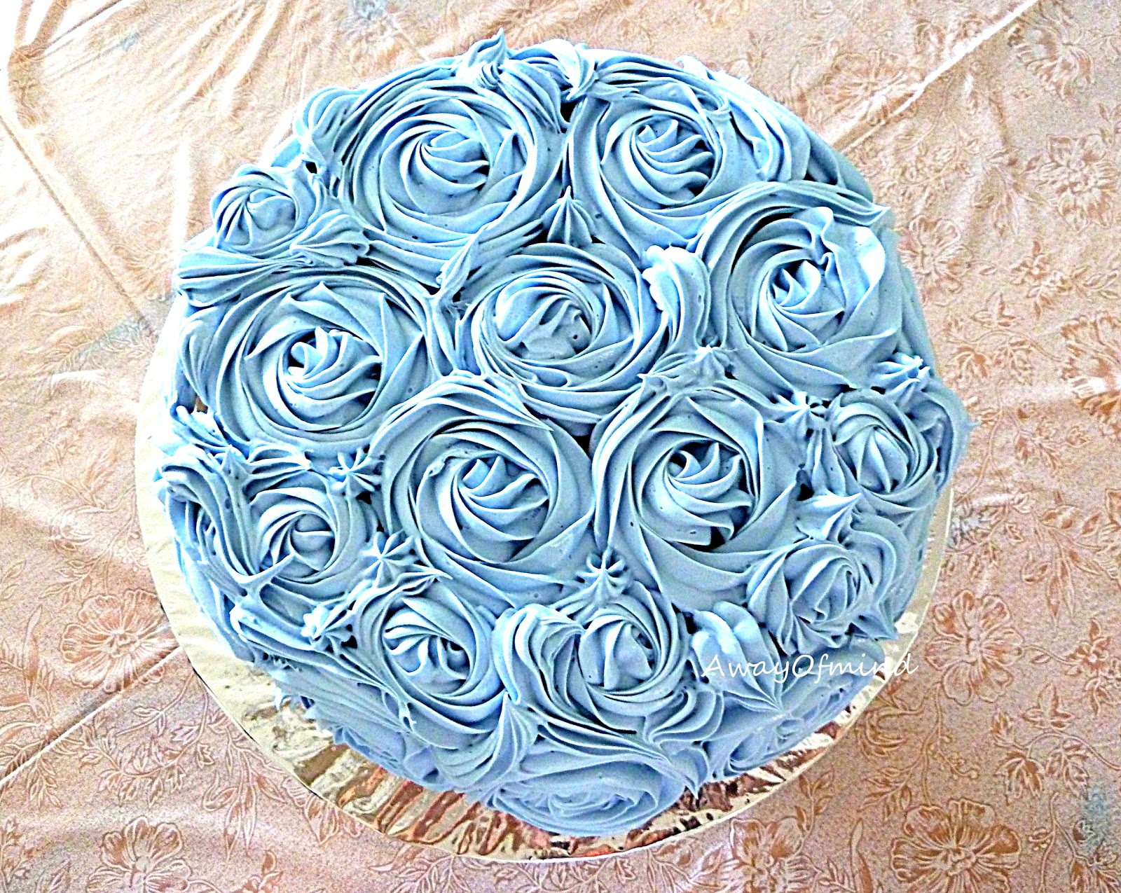 Awayofmind Bakery House: Chocolate Yam/Taro Buttercream Rose Cake
