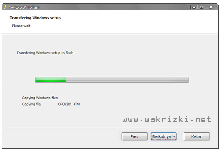 Cara Install Windows 7 dengan Flashdisk