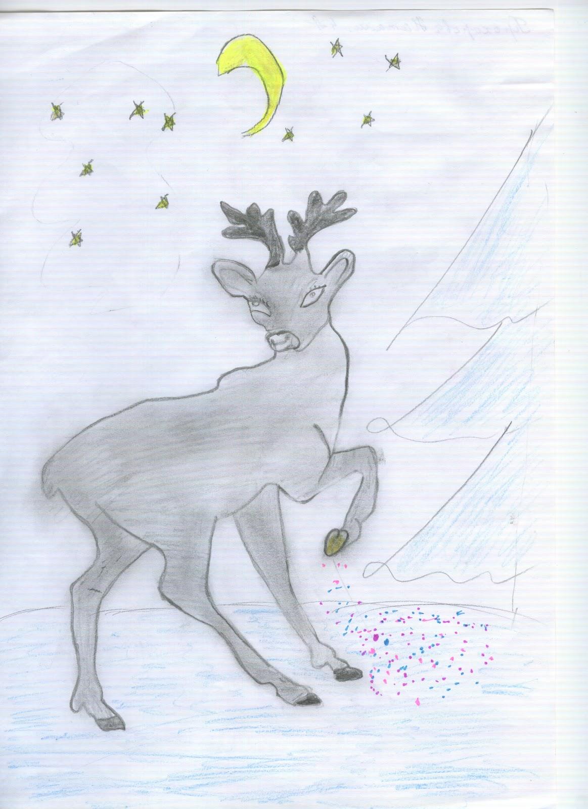 Рисунки оленя в профиль