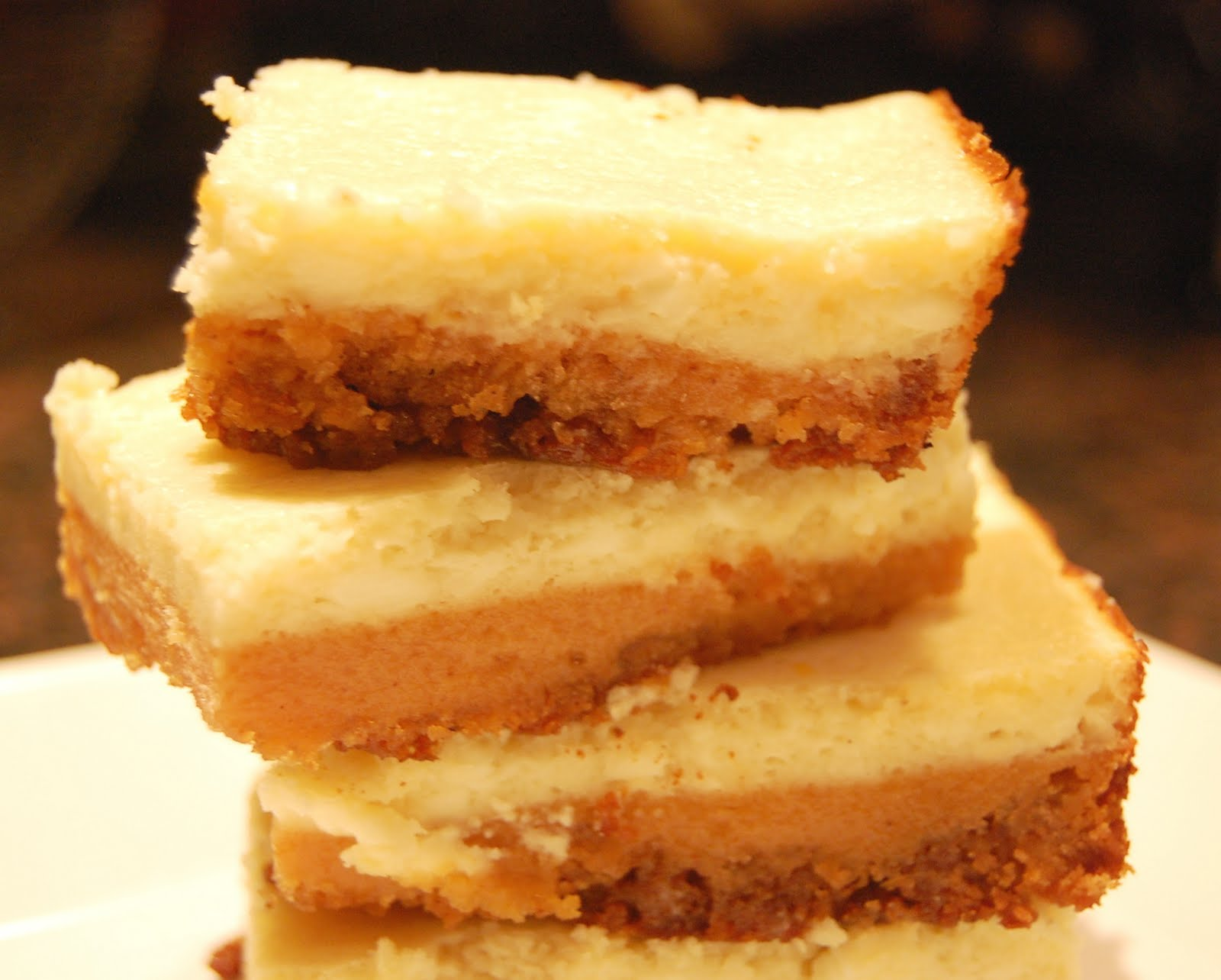 and A Lot About Food!: Bourbon-Sweet Potato Cheesecake Bars