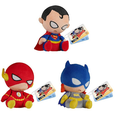 DC Comics Mopeez Plush Figures by Funko - Superman, The Flash & Batgirl