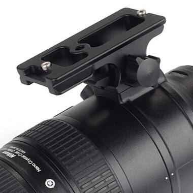 Sunwayfoto LF-N3 Replacement Foot on Nikon 70-200 VR II overview