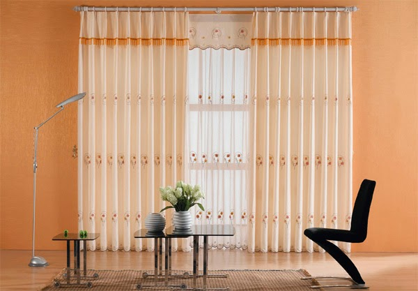 Curtains for the living room with horizontal and vertical drapes ...