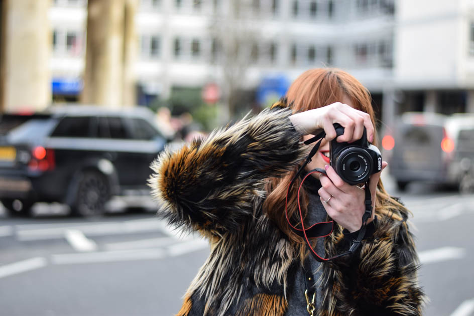 How To Take Outfit Shots In Public - Faux Fur Coat