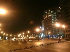 كورنيش الإسكندرية ليلا بمنطقة سيدى  بشر