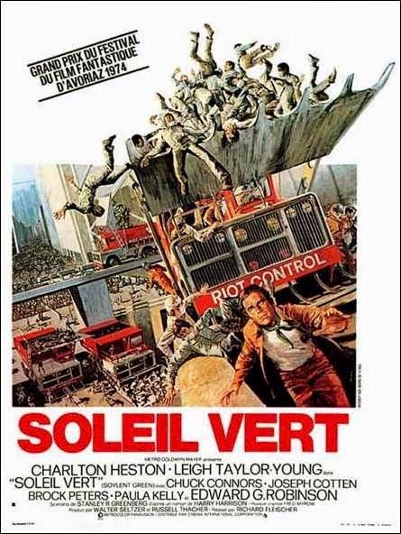 Affiche française de Soleil Vert, avec Charlton Heston