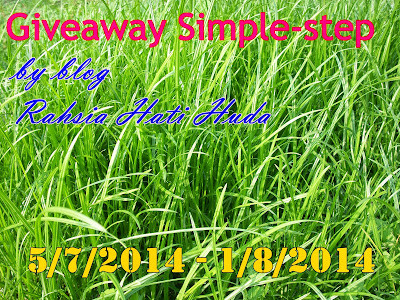Giveaway Simple-step by blog Rahsia Hati Huda