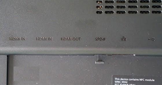 надписи портов моноблока