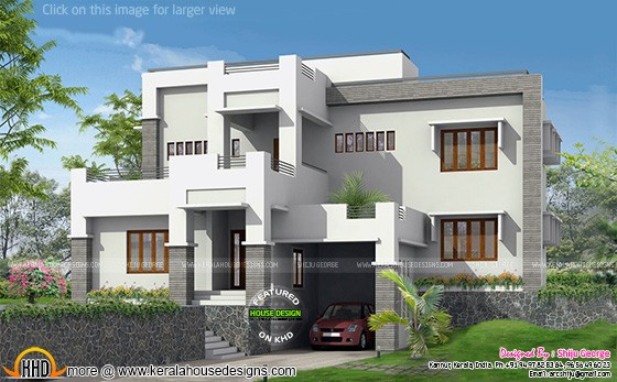 G+1 Modern home elevation