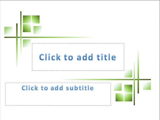 4 presentation: green | free powerpoint templates and tutorials, Presentation templates