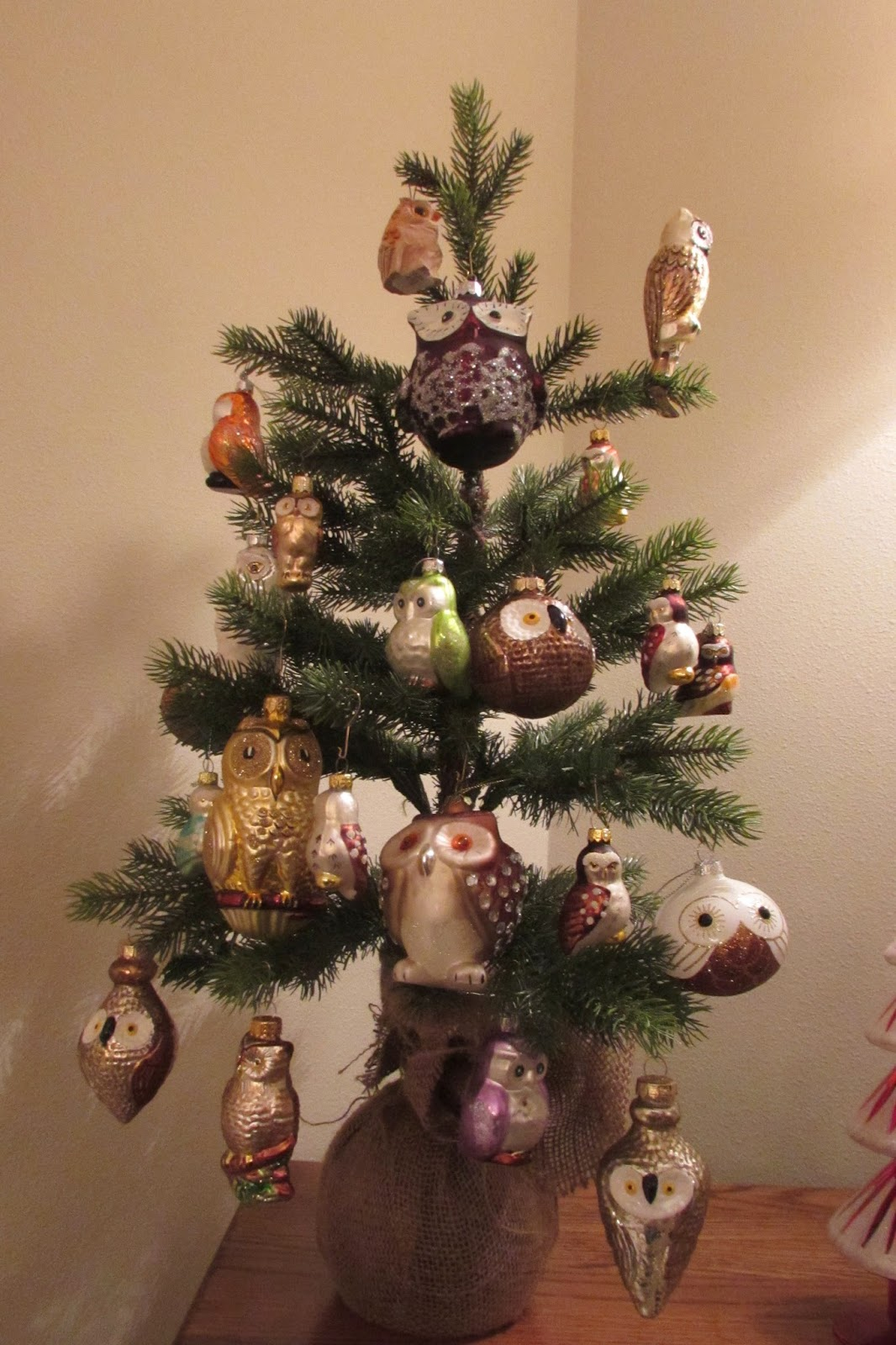 the owl tree which i featured earlier - Bird Christmas Decorations