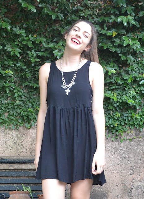 outfit, fashion blogger, argentina, black dress, leather jacket