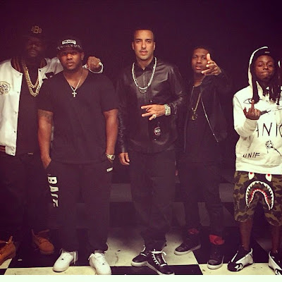 fotos de lil wayne rick ross french montana mack maine grabando video cancion gucci mane kanye west