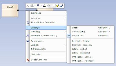 style linii powiązania dostępne w menu kontekstowym
